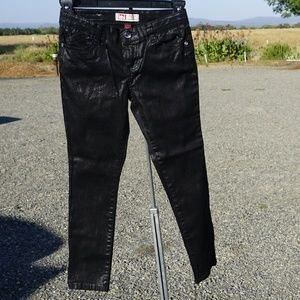 l.e.i. Chelsea lo rise super skinny shiny pants 10
